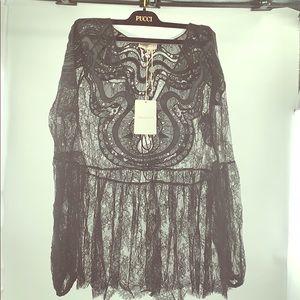 NWT Emilio Pucci Couture Lace Blouse size 38